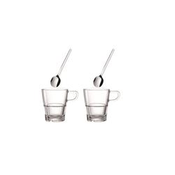 Glas Koch Tassen/Löffel Senso, 4-teilig