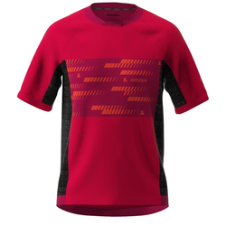 Zimtstern MTB-Jersey Kurzarm TechZonez Cyber Red/Jester Red