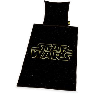 Kinderbettwäsche »Star Wars«, STAR WARS, schwarz, Material Baumwolle, Linon, bedruckt, Motiv