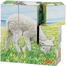 goki Würfelpuzzle Würfelpuzzle Bauernhoftiere, Puzzleteile