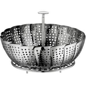 Küchenprofi Dämpfeinsatz, klappbar, Das ideale Accessoire, um Töpfe zum Dampfgarer umzufunktionieren, Durchmesser: 20 cm