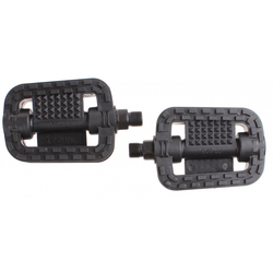 RV-Parts Fahrradpedale Fahrrad Pedale Stahl Anti Rutsch Trekking MTB schwarz