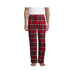 Flanell-Pyjamahose - L - Rot