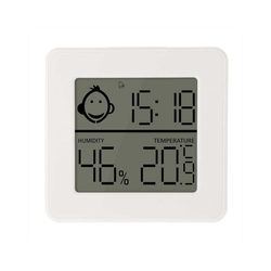 Lantelme Raumthermometer Zimmerthermometer mit Hygrometer, 1-tlg., digital, -10 bis +60° C