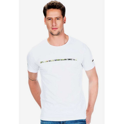 Cipo & Baxx T-Shirt Cb96 mit Logo Hologramm Aufdruck weiß L
