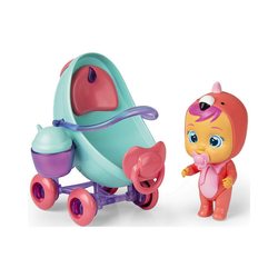IMC TOYS Babypuppe Cry Babies Magic Tears Fancy's Buggy