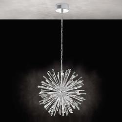 Kristall LED Hängelampe Vivaldo 1 Chrom, Klar