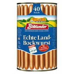 Land-Bockwurst in Eigenhaut Die Wurst vom Lande 40 Stück 3300g