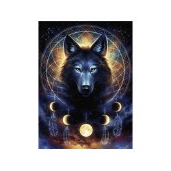 RAVENSBURGER Leuchtender Wolf Puzzle Mehrfarbig