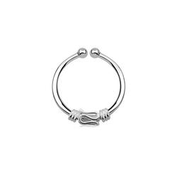 Adelia´s Nasenpiercing Nasenpiercing Fake Ring Septum silber, Schlange, Klemmring aus 925 Silber