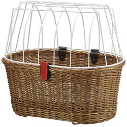 KlickFix Fahrradkorb Weidenkorb Doggy Basket, braun