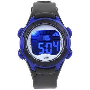 Kinder Sportuhr, 3ATM Wasserdichte elektronische Armbanduhr PU Armband Armbanduhr für Kinder Kleinkind Jungen Mädchen 3-12 Jahre alt(Schwarz)