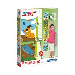 Clementoni® Puzzle Messlatten Puzzle 30 Teile - süße Tiere, Puzzleteile