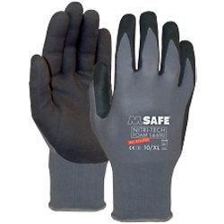 M-Safe Handschuhe Nitri-Tech Foam Nitril Größe XL Schwarz, Grau 1 Paar à 2 Handschuhe