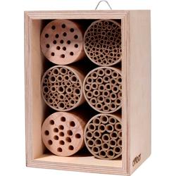 DOBAR Insektenhotel Profi, BxTxH: 15x12,5x22 cm, für Wildbienen natur