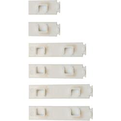 Gardinenschiene Enddeckel für Kunststoff-Gardinenschiene, Garduna, 3-läufig