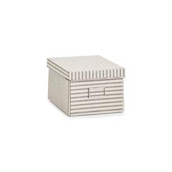 HTI-Living Aufbewahrungsbox Aufbewahrungsbox mit Deckel Stripes, Aufbewahrungsbox 21 cm x 15 cm x 38 cm