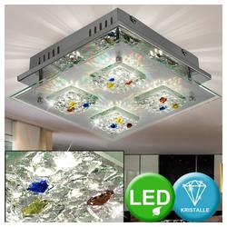 Esto Deckenleuchte, LED 12 Watt Deckenleuchte Kristallglas Deckenlampe Beleuchtung Lampe Leuchte Esto AGIO 9749000-4
