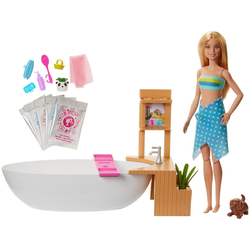 Barbie Anziehpuppe Wellnesstag, mit Badewanne