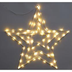 Leuchtsterne 3-fach, weiß - weiß