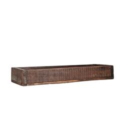 BigDean Holzkiste Ordnungsbox Allzweckkiste mit Metallbeschlag Antik Altholz 43,5 x 14,5 x 6,5 cm jede Kiste ein Unikat 14.5 cm x 6.5 cm