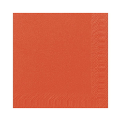 DUNI Servietten, aus Zellstoff, Lösungsmittelfreies Mundtuch, Farbe: mandarin, 1 Karton = 4 x 250 Stück = 1000 Servietten, Farbe: mandarin