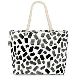 VOID Strandtasche (1-tlg), Schwarze Streifen Beach Bag Zebra Streifen gestreift Zebrastreifen Linien