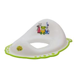 Cangaroo Toilettentrainer Toilettenaufsatz, Toilettensitz weiß-grün 5337, rutschfest, ab 12 Monate