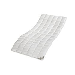 Matratzenauflage Auflage Zirbe, franknatur, Schurwolle kbT, Topper mit Merinowolle und Zirbenholz in Bio-Qualität 90 cm x 200 cm