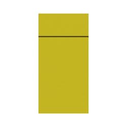 DUNI Duniletto-Slim Bestecktasche, Serviettentasche aus hochertigem Material, Maße: 40 x 33 cm, 1 Karton = 4 x 65 Stück, kiwi