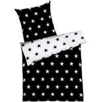 Kaeppel Stars Mako-Satin schwarz (135x200+80x80cm)