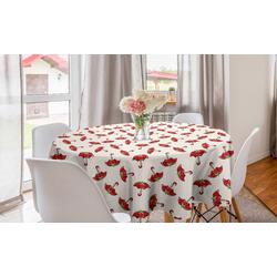 Abakuhaus Tischdecke Kreis Tischdecke Abdeckung für Esszimmer Küche Dekoration, Regenschirm Obst Suchen, Sonnenschirme