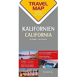 Travelmap Reisekarte Kalifornien 1:800.000; California; Californie - Buch