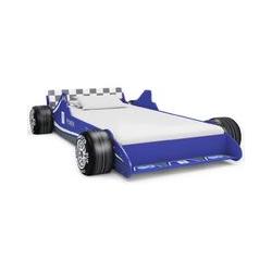 Kinderbett im Rennwagen-Design 90 x 200 cm Blau