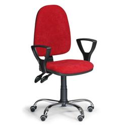 Bürostuhl torino, mit armlehnen synchronmechanik, rot