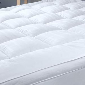 Threads For Bed Matratzenauflage 180 x 200 cm, Super Weicher Topper Atmungsaktiv Baumwolle Matratzenschoner Antiallergisch Matratzentopper weiß - 7.6cm Hoch