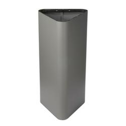 Abfallbehälter, 60l, HxBxT 800x380x380mm, Korpus Stahl grau