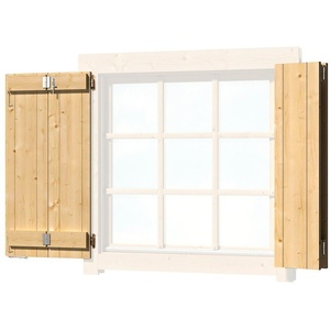 Outdoor Life Products Fensterladen, BxH: 88x88 cm, für Gartenhaus Colorado