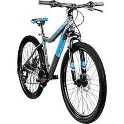 Galano GX-27,5 650B Mountainbike Hardtail MTB Fahrrad 27,5 Zoll Bike 21 Gang... grau/blau, 45 cm