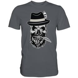 weargo T-Shirt Hipster Skull Totenkopf mit Gasmaske XL