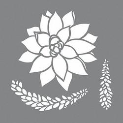 Rayher Dekor-Schablonen Sukkulenten grau