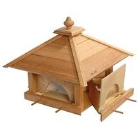 Luxus-Vogelhaus Großes Eiche-Vogelfutterhaus natur