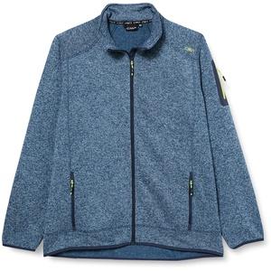 CMP Herren Knit Tech mélange Fleece Jacket Jacke, Blue Pluto-Energy, 50