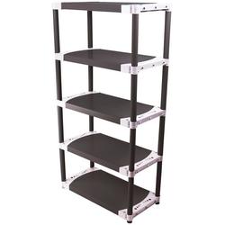 ONDIS24 Steckregal TIN 115, 5 Fachböden, Kunststoff schwarz