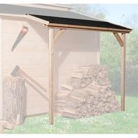 """weka Schleppdach für Gartenhaus """"19/21mm"""", natur"""