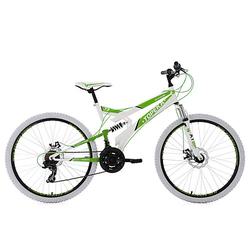 26 Fully Mountainbike 21 Gänge Topeka Mountainbikes, Rahmenhöhe: 44 cm grün/weiß