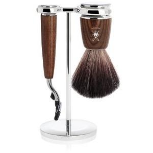 Mühle Rytmo Black Fibre Gillette Mach3 Eschenholz Rasierset 1 Stk