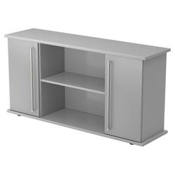 KAPA SB | Sideboard | mit Türen - Grau/Silber Sideboard Chromgriff Metall