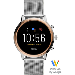 Fossil Smartwatches JULIANNA HR SMARTWATCH, FTW6061 Smartwatch (1.28 Zoll, Wear OS by Google, mit individuell einstellbarem Zifferblatt)