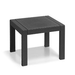 Keter Gartentisch Victoria Tisch klein (59x59) (1-St), 1x Tisch grau